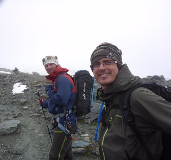 Rechts Mike, links Bergführer Stefan